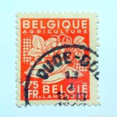 Sellos: SELLO POSTAL BELGICA 1948 ,1,75 F, AGRICULTURA , USADO. Lote 150741506