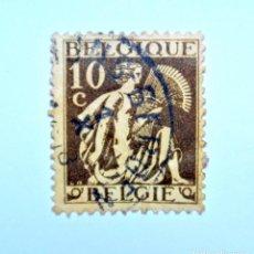 Sellos: SELLO POSTAL BELGICA 1932 ,10 C, CERES , USADO. Lote 150742174