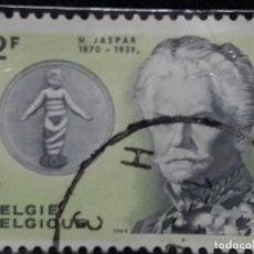 Sellos: SELLO POSTES BELGICA, 2 FR M, JASPAR, AÑO 1939, NO USADO. Lote 151148366