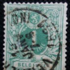 Sellos: SELLO POSTES BELGICA, ESCUDO 1 CENT, AÑO 1910, NO USADO. Lote 151153706