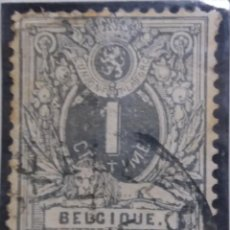 Sellos: SELLO POSTES BELGICA, ESCUDO 1 CENT, AÑO 1889, NO USADO. Lote 151155150