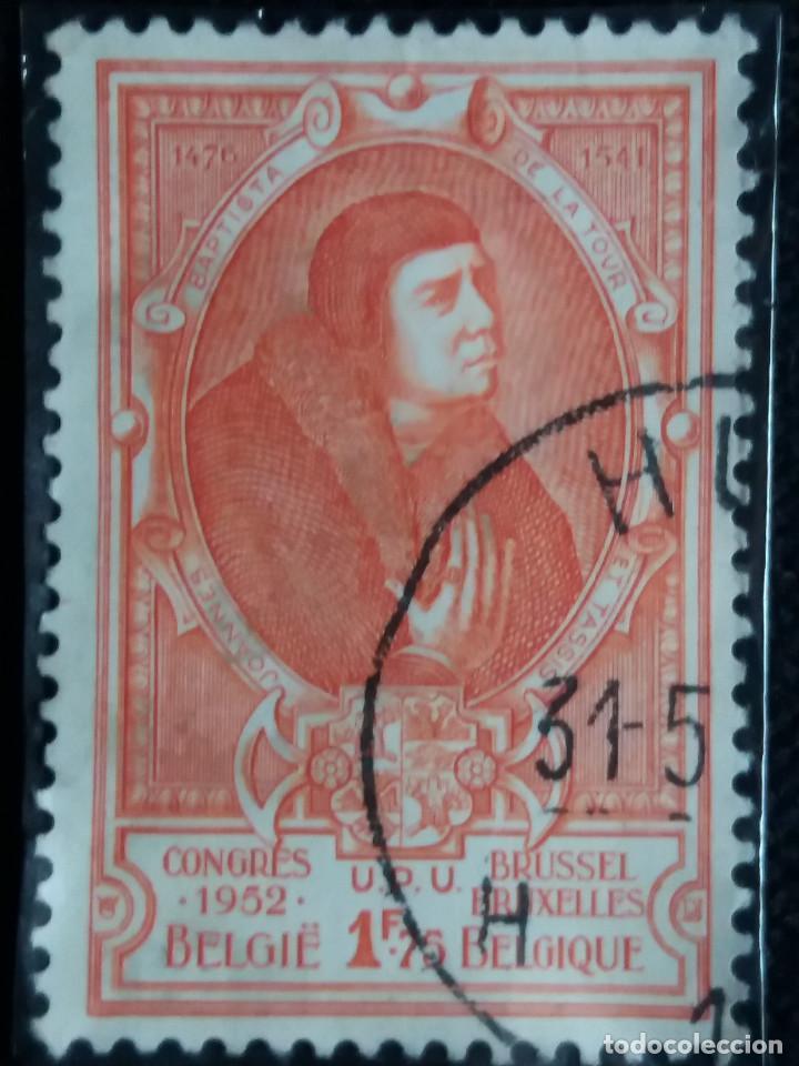 SELLO POSTES BELGICA, 1,75 FR, CONGRESO, AÑO 1952, NO USADO (Sellos - Extranjero - Europa - Bélgica)