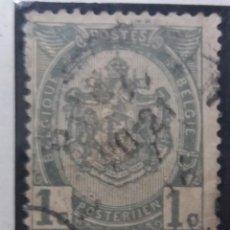 Sellos: SELLO, POSTES BELGICA, 1 CENTIME, AÑO1898, NO USADO. Lote 151432126