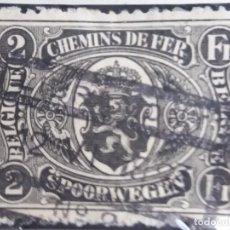 Sellos: SELLO, POSTES BELGICA, 2 FR, CHEMIN DE FER, AÑO1905, NO USADO. Lote 151432438