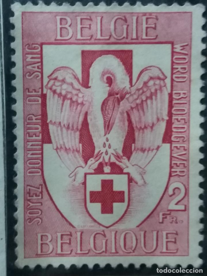 SELLO, POSTES BELGICA, 2 FR, AÑO1956, NO USADO (Sellos - Extranjero - Europa - Bélgica)