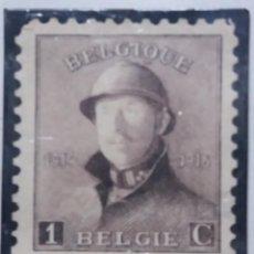 Sellos: SELLO, POSTES BELGICA, 1 CENTIMES, ALBERTO I, AÑO 1919, NO USADO. Lote 151433170