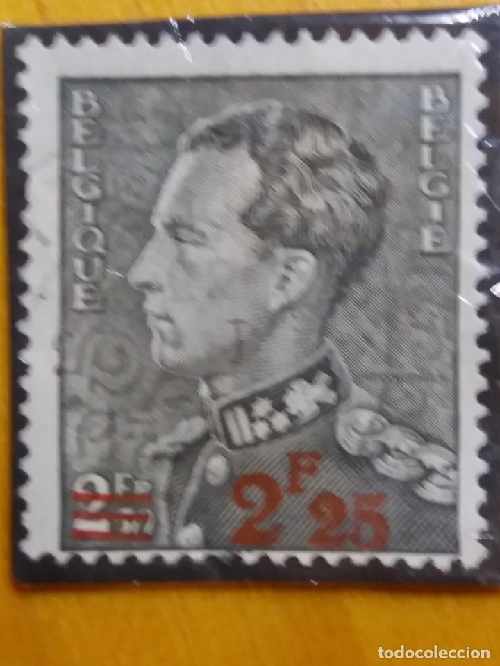 SELLO, POSTES BELGICA, 2,25 FR, LEOPOLDO III, AÑO 1937, SOBREESCRITO, NO USADO (Sellos - Extranjero - Europa - Bélgica)