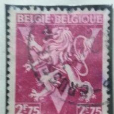 Sellos: SELLO, POSTES BELGICA, 2,75 FR, AÑO 1944, NO USADO. Lote 151434710