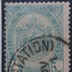Sellos: SELLO, POSTES BELGICA, 5 CENTIMES, ESCUDO, AÑO 1907, NO USADO. Lote 151439922