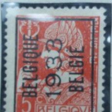 Sellos: SELLO, POSTES BELGICA, 5 CENTIMES, SOBREESCRITO, AÑO 1933, NO USADO. Lote 151441098