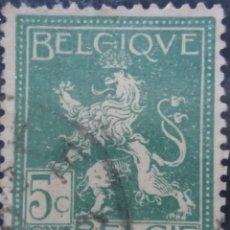 Sellos: SELLO, POSTES BELGICA, 5 CENTIMES, ESCUDO, AÑO 1936, NO USADO. Lote 151442186