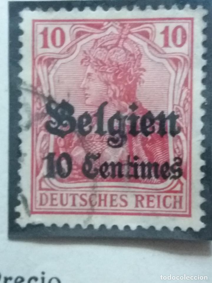 SELLO, POSTES BELGICA, 10 CENTIMES, OCUPACION BELGIQUE, SOBREESCRITO, AÑO 1912, NO USADO (Sellos - Extranjero - Europa - Bélgica)