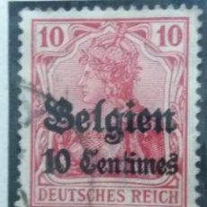 Sellos: SELLO, POSTES BELGICA, 10 CENTIMES, OCUPACION BELGIQUE, SOBREESCRITO, AÑO 1912, NO USADO. Lote 151525522