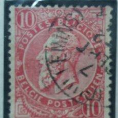 Sellos: SELLO, POSTES BELGICA, 10 CENTIMES, REY LEOPLD, AÑO 1898, NO USADO. Lote 151527134