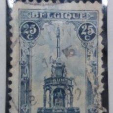 Sellos: SELLO, POSTES BELGICA, 25 CENTIMES, AÑO 1919 NO USADO. Lote 151529982