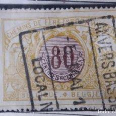 Sellos: SELLO, POSTES BELGICA, 80 CENTIMES, AÑO 1910, NO USADO. Lote 151533394