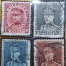 Sellos: 4 SELLOS, POSTES BELGICA 3 FR, REY ALBERTO I, AÑO 1935, NO USADO. Lote 151630026