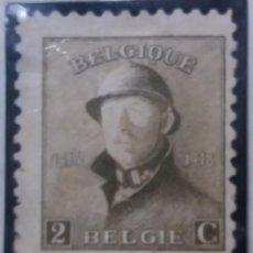 Sellos: SELLO, POSTES BELGICA, 2 FR, REY ALBERTO I,, AÑO 1909, NO USADO. Lote 151631782