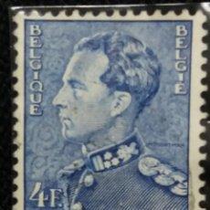 Sellos: SELLO, POSTES BELGICA, 4 FR, REY LEPOLDO III, AÑO 1950, NO USADO. Lote 151634214