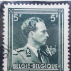 Sellos: SELLO, POSTES BELGICA, 5 FR, REY LEPOLDO III, AÑO 1938, NO USADO. Lote 151635038