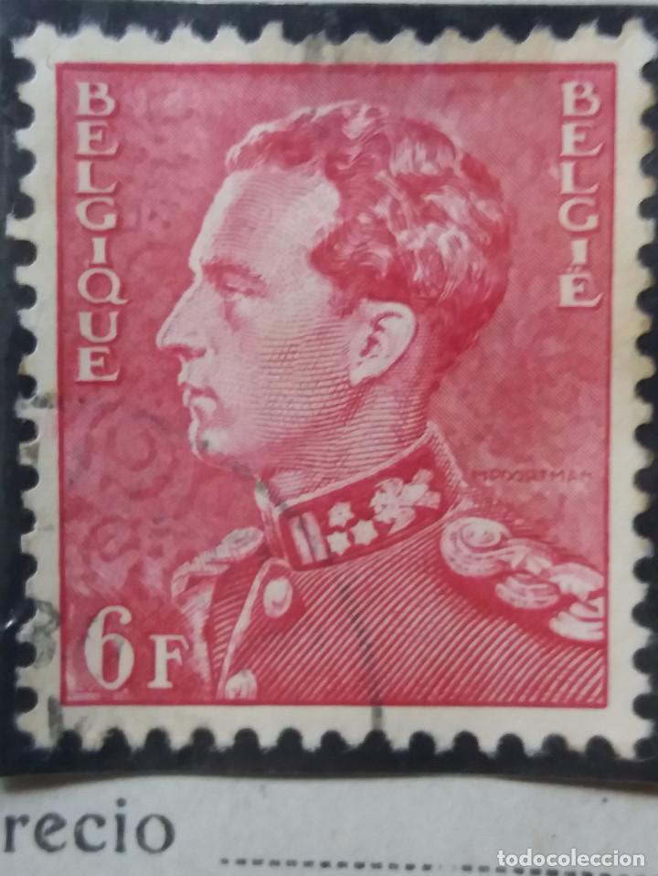 SELLO, POSTES BELGICA, 6 FR, REY LEOPOLDO III, AÑO 1935, NO USADO (Sellos - Extranjero - Europa - Bélgica)