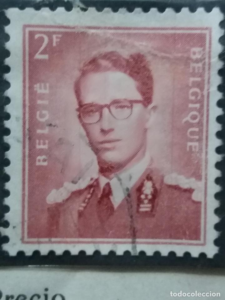 SELLO, POSTES BELGICA, 2 FR, REY BALDUINOI, AÑO 1935, NO USADO (Sellos - Extranjero - Europa - Bélgica)