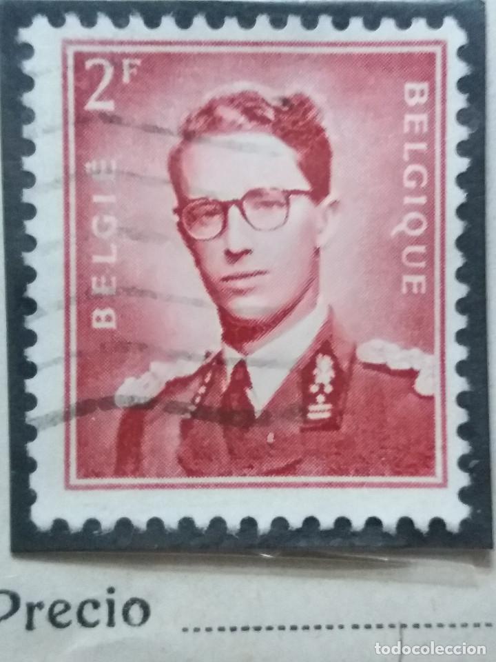 SELLO, POSTES BELGICA, 2 FR, REY BALDUINO, AÑO 1935, NO USADO (Sellos - Extranjero - Europa - Bélgica)