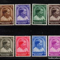 Sellos: BELGICA 438/45** - AÑO 1936 - PRINCIPE BALDUINO - PRO OBRAS ANTITUBRCULOSAS. Lote 152765390