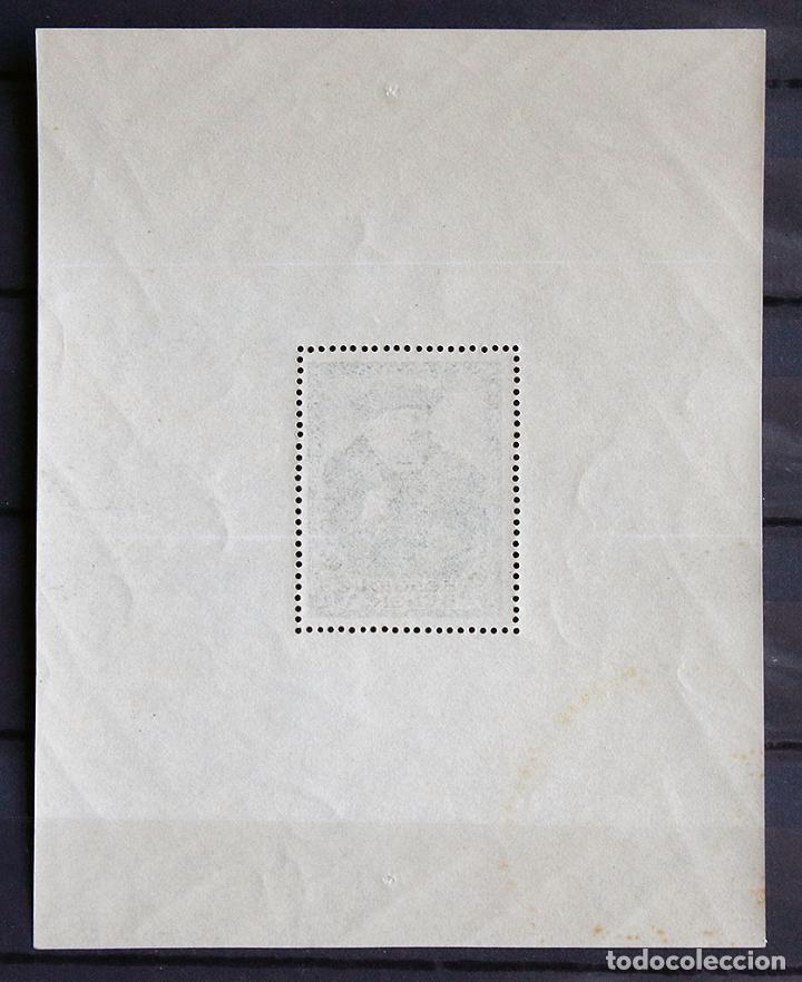 Sellos: Bélgica 1935 ~ Salón filatélico en la exposición universal de Bruselas ~ hojita nueva MNH Bueno - Foto 2 - 153093438