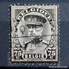 Sellos: BÉLGICA 1934 ~ ALBERTO I DE BÉLGICA ~ SELLO USADO. Lote 153221202