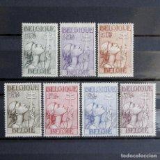 Sellos: BÉLGICA 1933 ~ LUCHA CONTRA TUBERCULOSIS ~ SERIE COMPLETA NUEVA Y FIJASELLO MNH-MH BUENO ~ CAT +450€. Lote 153224826