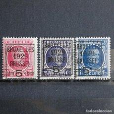 Sellos: BÉLGICA 1929 ~ ALBERT I • SOBRECARGA Y PRECANCELADO 1929 ~ SERIE NUEVA MNH BUENO. Lote 153359306