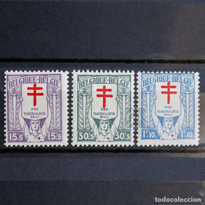 BÉLGICA 1925 * FIJASELLOS MH * PRO LUCHA CONTRA TUBERCULOSIS (Sellos - Extranjero - Europa - Bélgica)