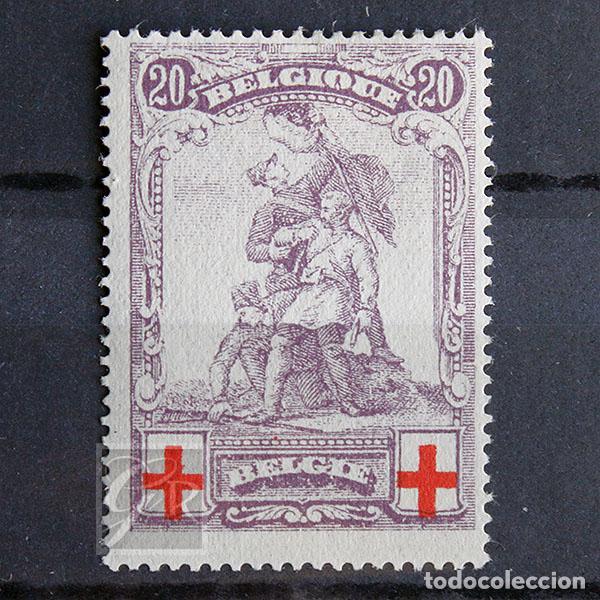 BÉLGICA 1914 * FIJASELLOS MH * PRO CRUZ ROJA (Sellos - Extranjero - Europa - Bélgica)