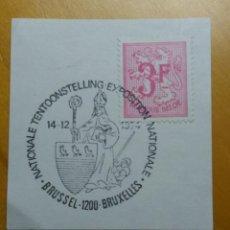 Sellos: SELLO BELGIQUE, 3 FR, AÑO 1967.CUÑO BRUXELLES.. Lote 153571274