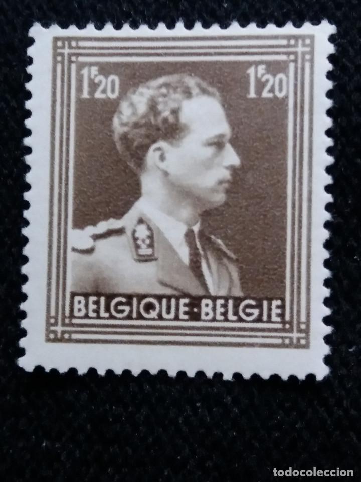 SELLO BELGIQUE, 1,20 FR, LEOPOLDO III, AÑO 1936. (Sellos - Extranjero - Europa - Bélgica)