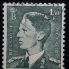 Sellos: SELLO BELGIQUE, 1,50 FR, REY BALDUINO, AÑO 1952. Lote 153573194