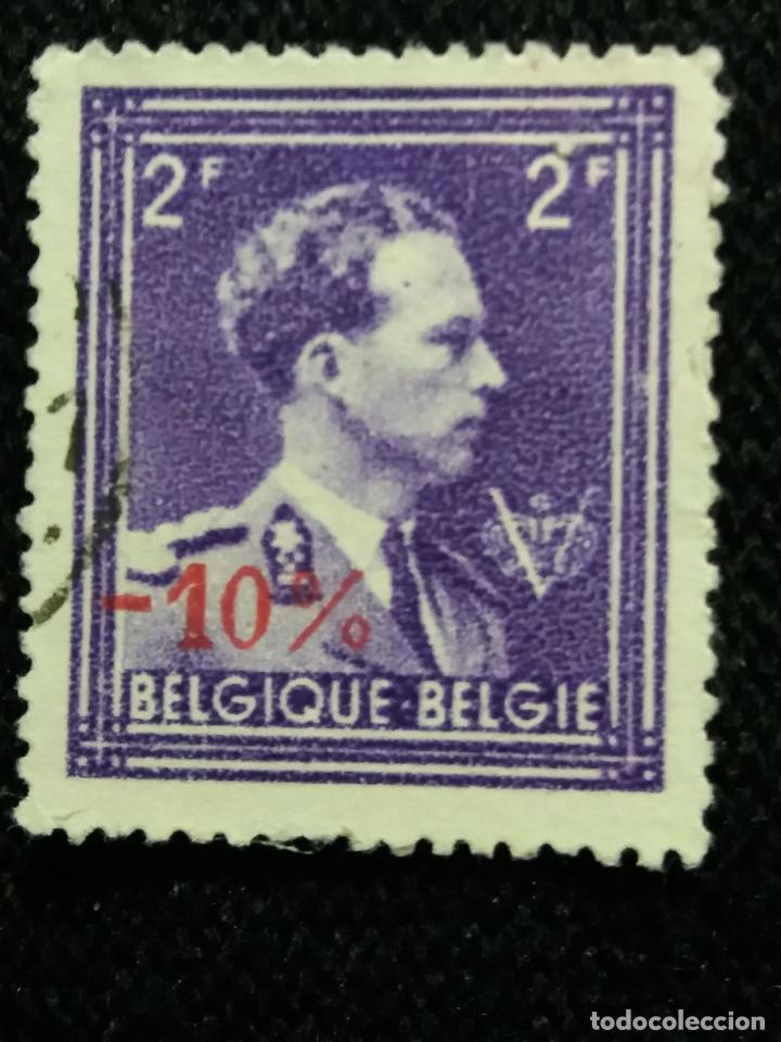 SELLO BELGIQUE, 2 FR, REY LEOPOLDO III, AÑO 1934 SOBREESCRITO (Sellos - Extranjero - Europa - Bélgica)