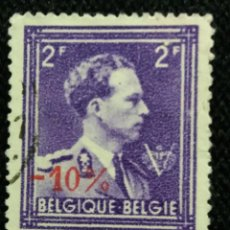 Sellos: SELLO BELGIQUE, 2 FR, REY LEOPOLDO III, AÑO 1934 SOBREESCRITO. Lote 153574870