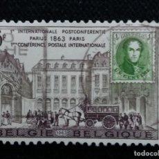 Sellos: SELLO BELGIQUE, 6 FR, CONFERENCIA PARIS, AÑO 1963. . Lote 153575186