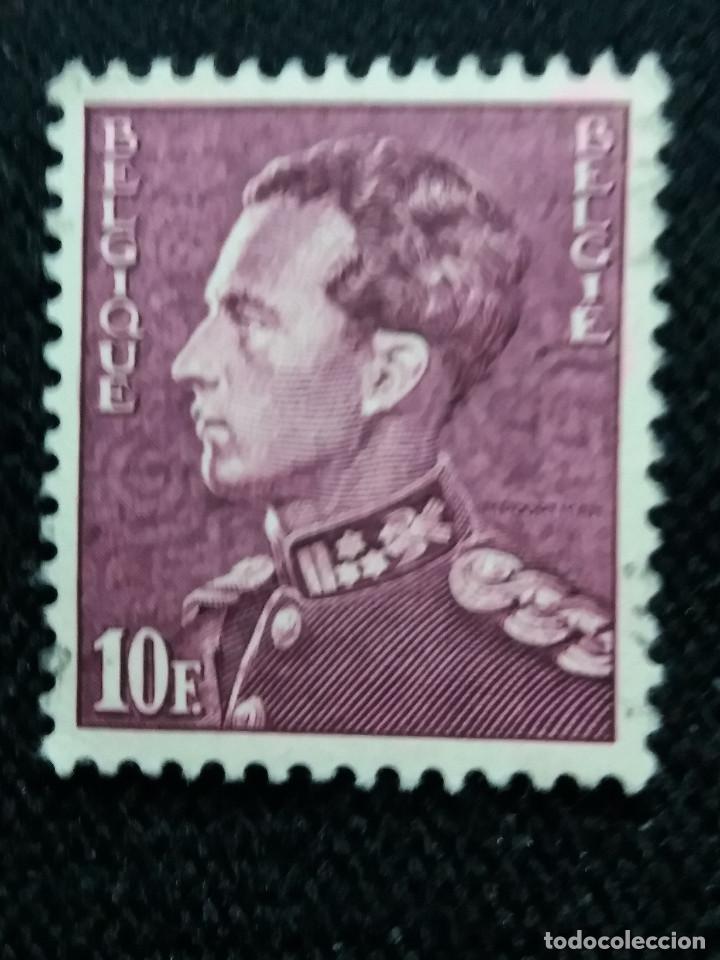 SELLO BELGIQUE, 10 FR, REY LEOPOLDO III, AÑO 1963. (Sellos - Extranjero - Europa - Bélgica)