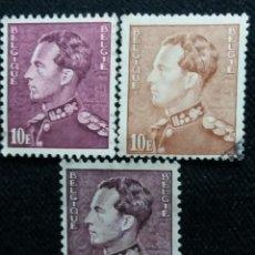 Sellos: 3 SELLOS BELGIQUE, REY LEOPOLDO III, 10 FR, AÑO 1936.. Lote 153582534