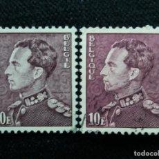 Sellos: 2 SELLOS BELGIQUE, REY LEOPOLDO III, 10 FR, AÑO 1936.. Lote 153582678