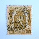 Sellos: SELLO POSTAL BELGICA 1936, 10 C , ESCUDO DE ARMAS CON LEON , USADO. Lote 154197658