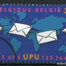 Sellos: BÉLGICA. UNIÓN POSTAL UNIVERSAL (UPU). MUESTRA CON SEGMENTO. Lote 154615398