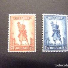 Sellos: BELGICA BELGIQUE BELGIE GLOIRE DE L'INFANTERIE 1932 YVERT Nº 351 / 352 ** MNH. Lote 154750998