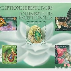 Sellos: BELGIUM 2019 - EXCEPTIONAL POLINATORS - MINIATURE SHEET MNH. Lote 155871706