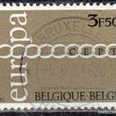 Sellos: BELGICA - UN SELLO - IVERT #1578 ***EUROPA C.E.P.T.*** - AÑO 1971 - USADO. Lote 156963418