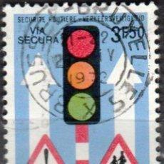 Sellos: BELGICA - UN SELLO - IVERT #1617 ***SEGURIDAD VIARIA*** - AÑO 1972 - USADO. Lote 156966918