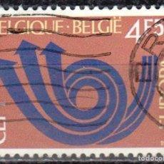 Sellos: BELGICA - UN SELLO - IVERT #1661 ***EUROPA C.E.P.T.*** - AÑO 1973 - USADO. Lote 156968270